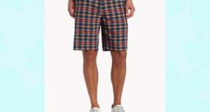 adidas Golf Men's Climalite Fashion Plaid Shorts Nautical/Lobster 32-Inch