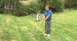 Awkward lie 4 – ball above – Golf Training Tip