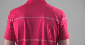 Glenmuir Mens Quick Dry Performance Golf Shirt with Fine Stripe Detail