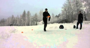 Winter Disc Golf Driving Training